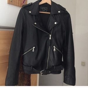 Lucky brand real moto leather jacket